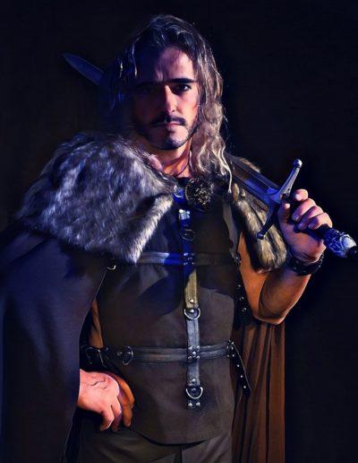 Guerrier roman fantasy épée shooting Silias