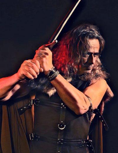 Heroic fantasy guerrier épée shooting Beïssel